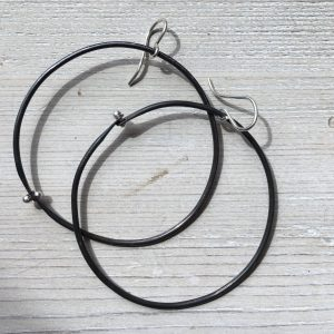 Large Black Hoop Earrings