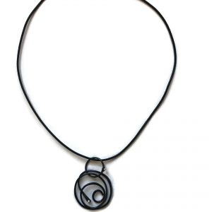 Black Steel Spiral Necklace