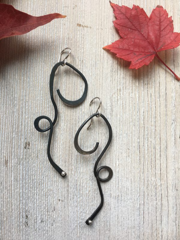 long black dangle earrings