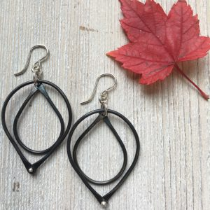 Noir Double Drop Earrings
