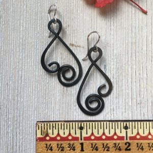 Ornamental Black Steel Earrings